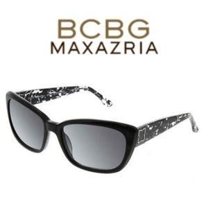 BCBG Max Azria Captivate Sunglasses, Black. Used